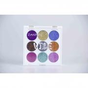 Paleta De Glitter Holográfico Linha Vibe 9 Cores 01 (1,3G Cada) - Zanphy