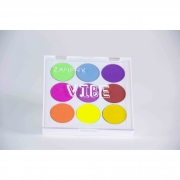 Paleta De Sombras Neon Linha Vibe 9 Cores 02 (1,3G Cada) - Zamphy