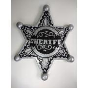 Placa Decorativa - Estrela Sheriff