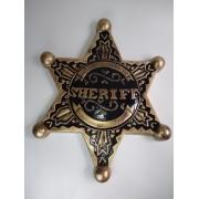 Placa Decorativa - Estrela Sheriff Decorada
