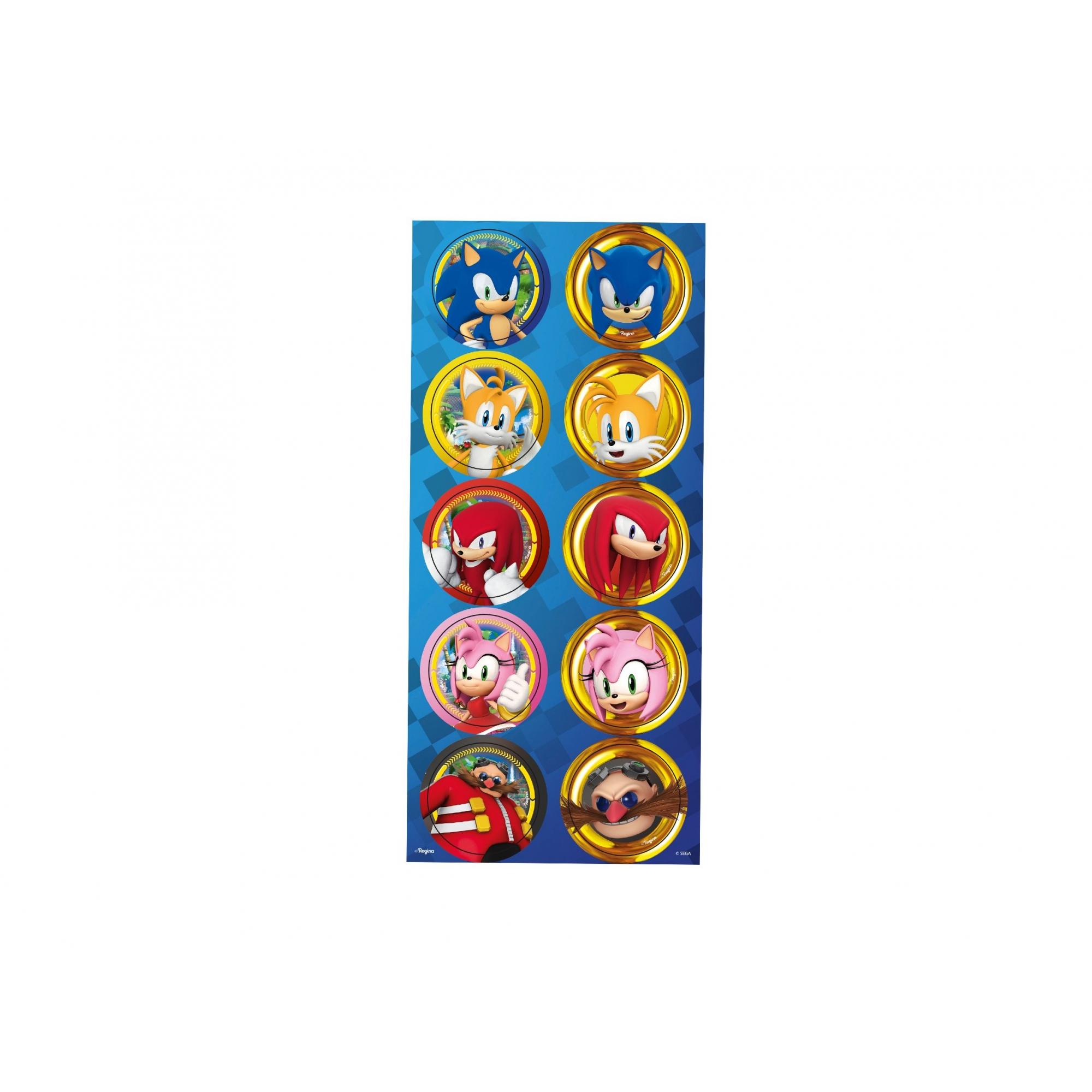 Adesivo Decorativo Redondo Sonic