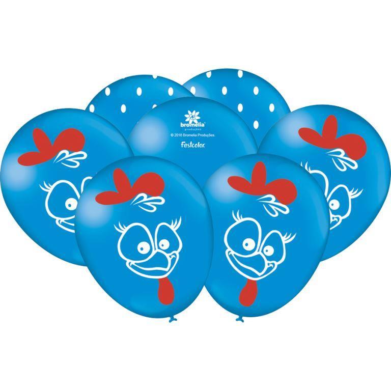"""Balão Especial 9"""" Com 25 Unidades Galinha Pintadinha"""