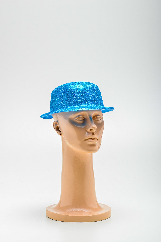 Chapéu Coco Plastico C/ Gliter