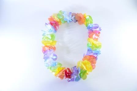 Colar Havaiano Flores Tecido Colorido