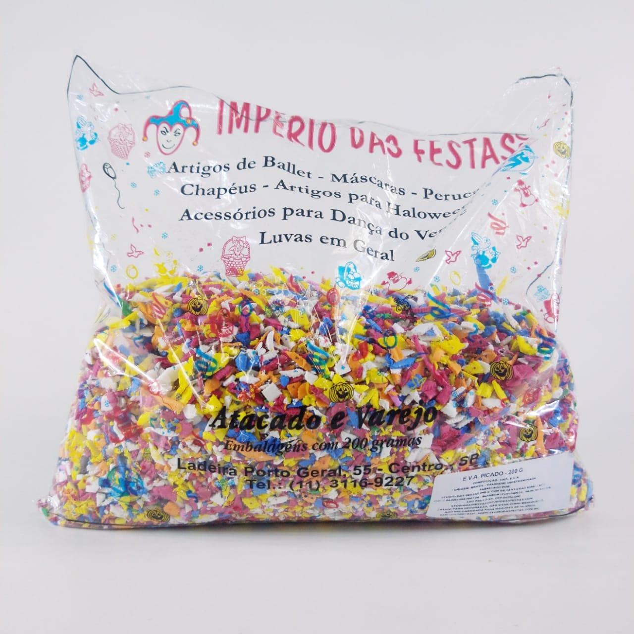 Confete  Coloridos de E.V.A Pct 200gr