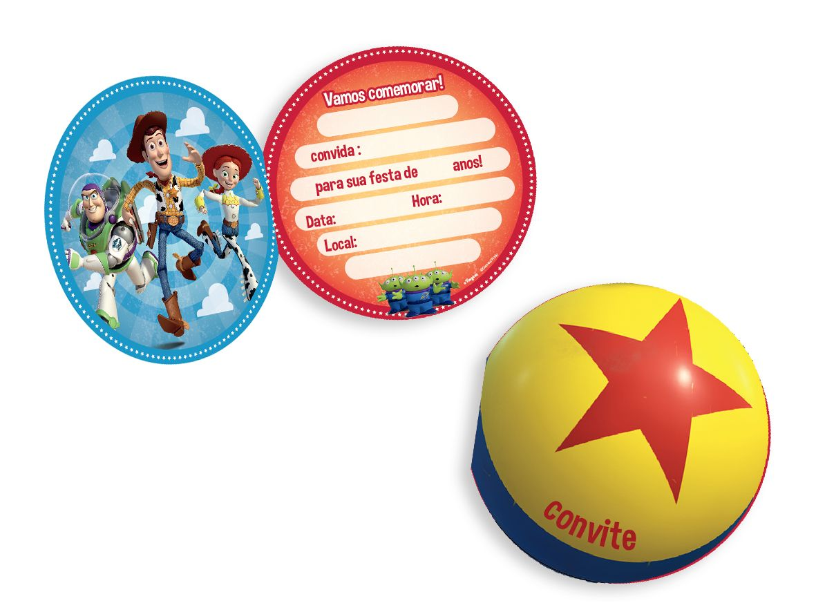 Convite  8 Unidades Toy Story 4