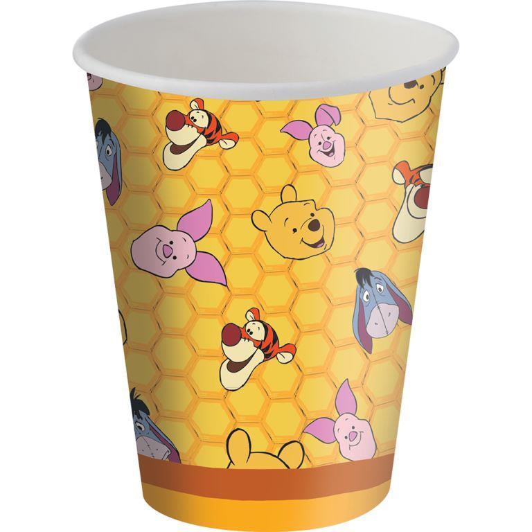 Copo Papel 200Ml  Winnie The Pooh