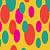 Amarelo com bolas coloridas