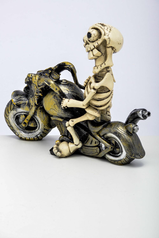 Cranio Na Moto Resina
