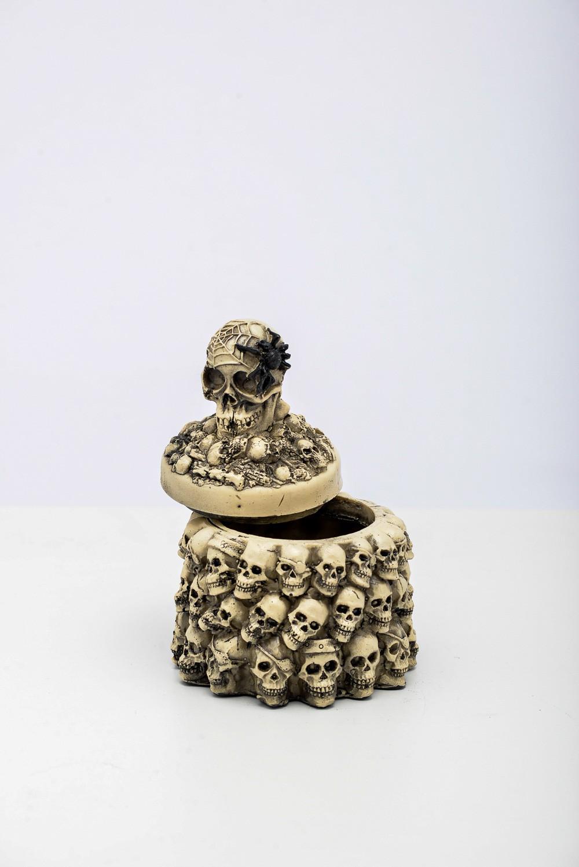 Cranio Porta Joias Resina