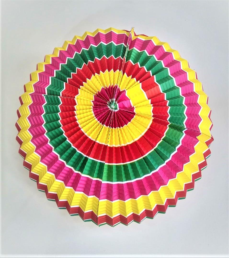 Enfeite Bola Junina Origami Colorido