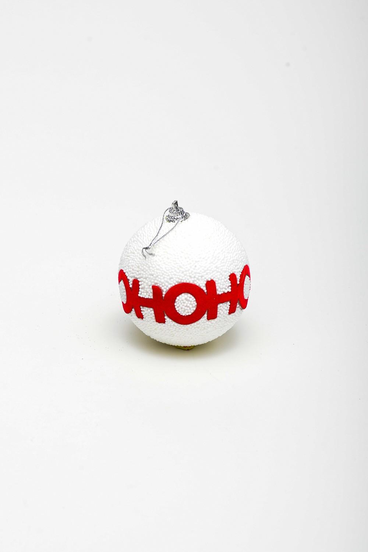 Enfeite Bola Natal Hohoho C/3 Und