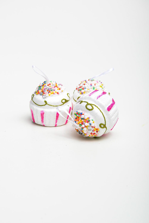Enfeite Cupcake Para De Decoração Com 3 Pçs