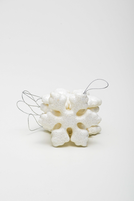 Enfeite Floco De Neve C/ Gliter Pct C/ 5