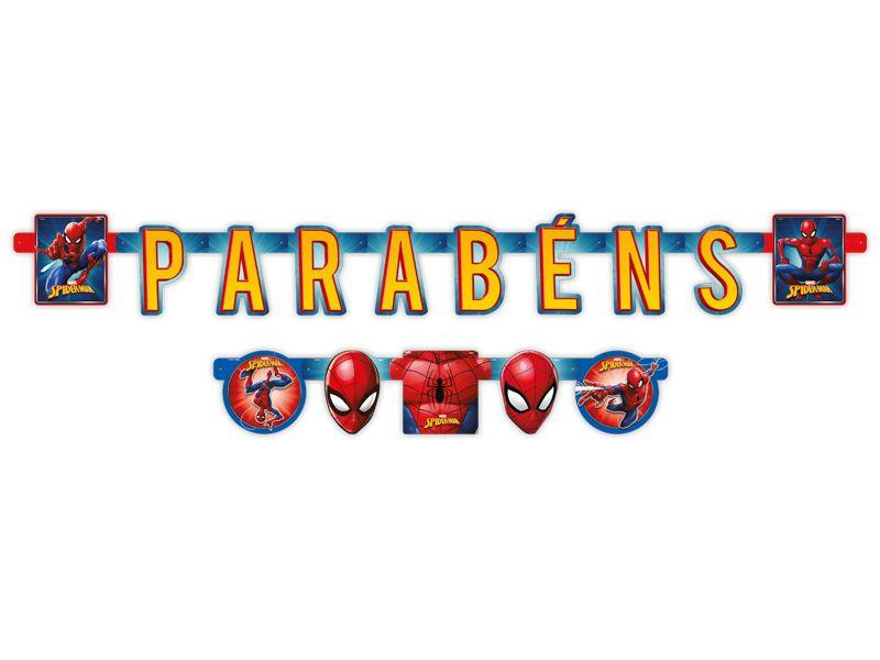 Faixa Parabéns Spider Man