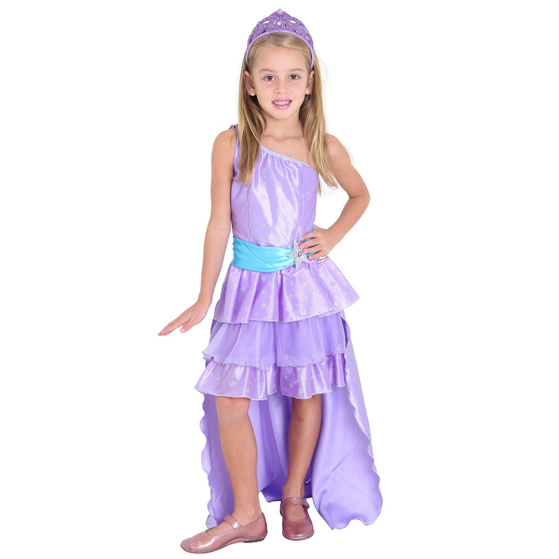 Fantasia Barbie Pop Star Luxo Roxa Tam P
