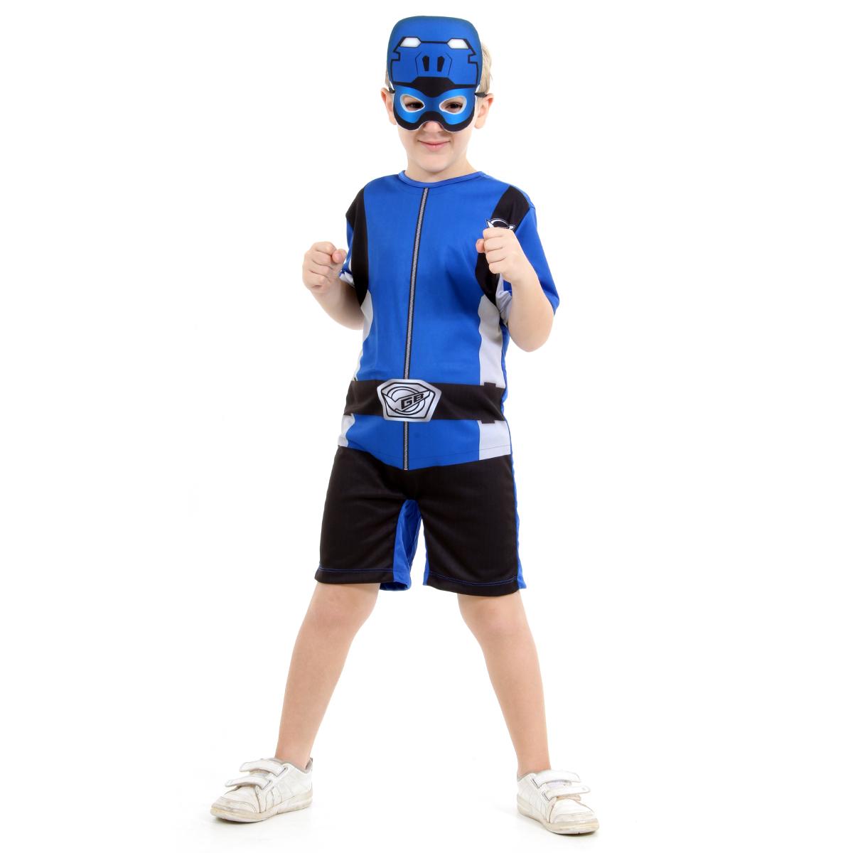 Fantasia Power Rangers Beast Morphers Azul Curto