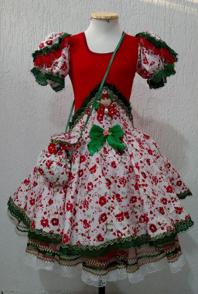 Fantasias Junina Infantil - Capitu Vermelho