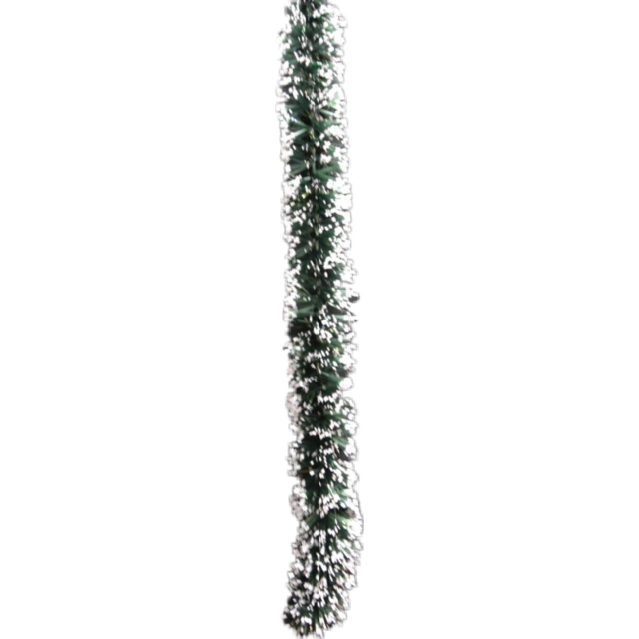 Festão Fugiron Verde com Neve