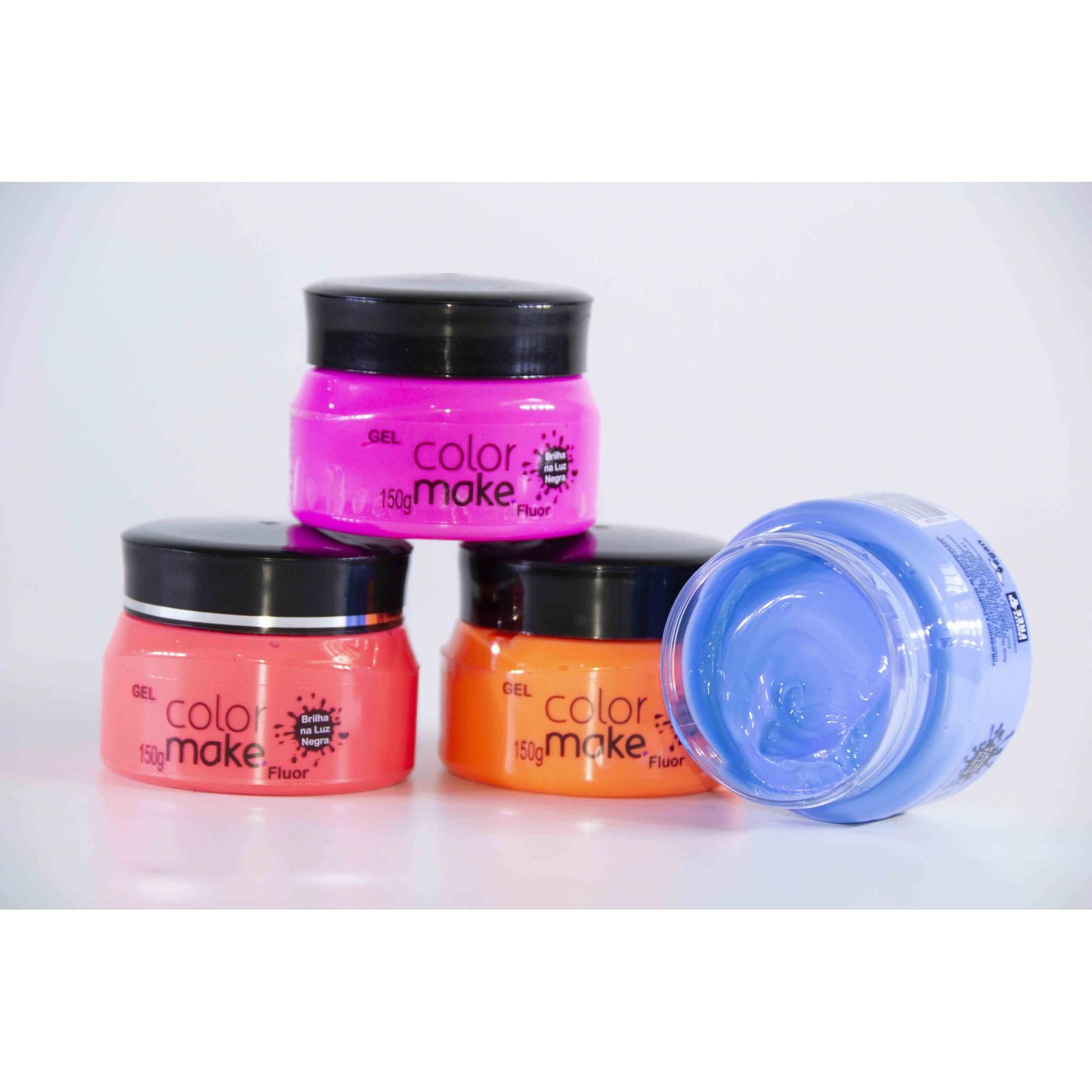 Gel Para Corpo E Cabelo Fluorescente 150G - Color Make