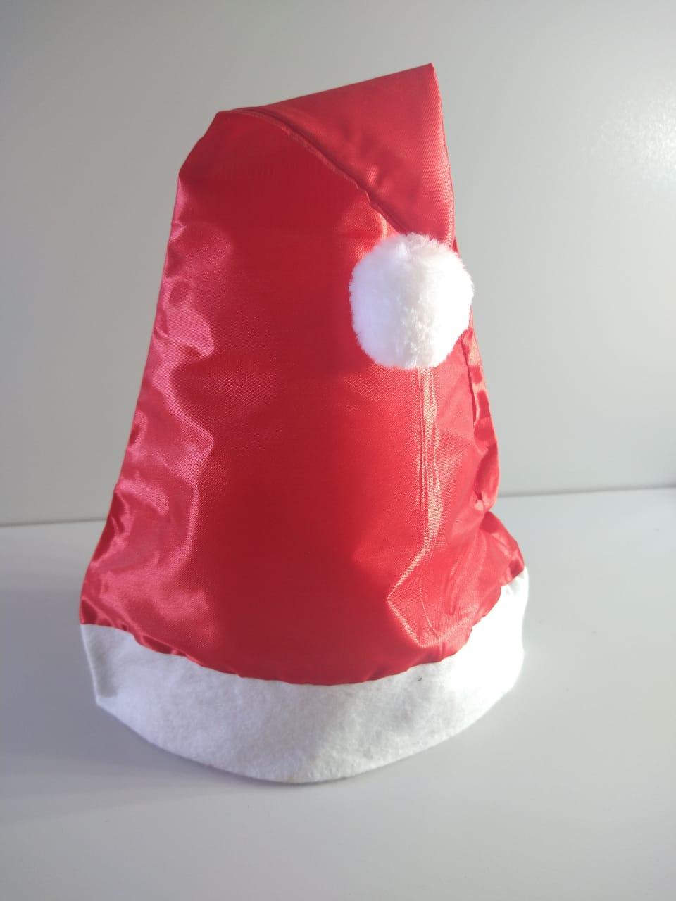 Gorro Cetim Papai Noel