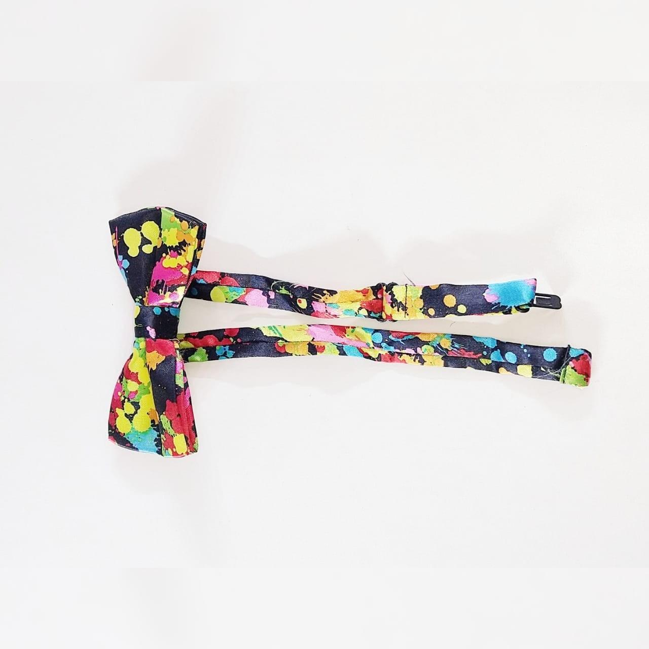 Gravata borboleta Estampa Colorida