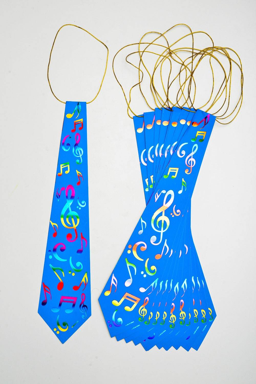 Gravata Musical Pacote Com 12