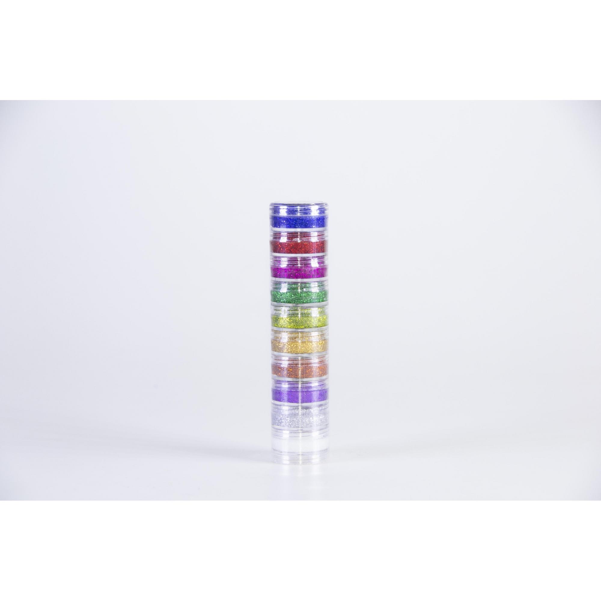 Kit Blush Cremoso Glitter 10 Cores (4G Cada) - Color Make