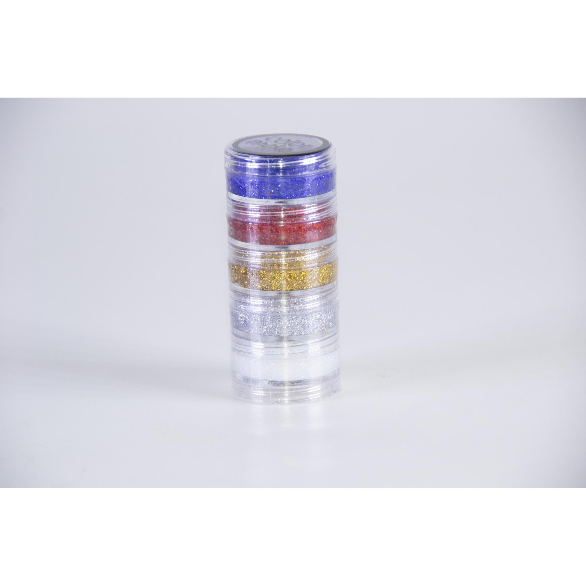 Kit Blush Cremoso Glitter 5 Cores (4G Cada) - Color Make