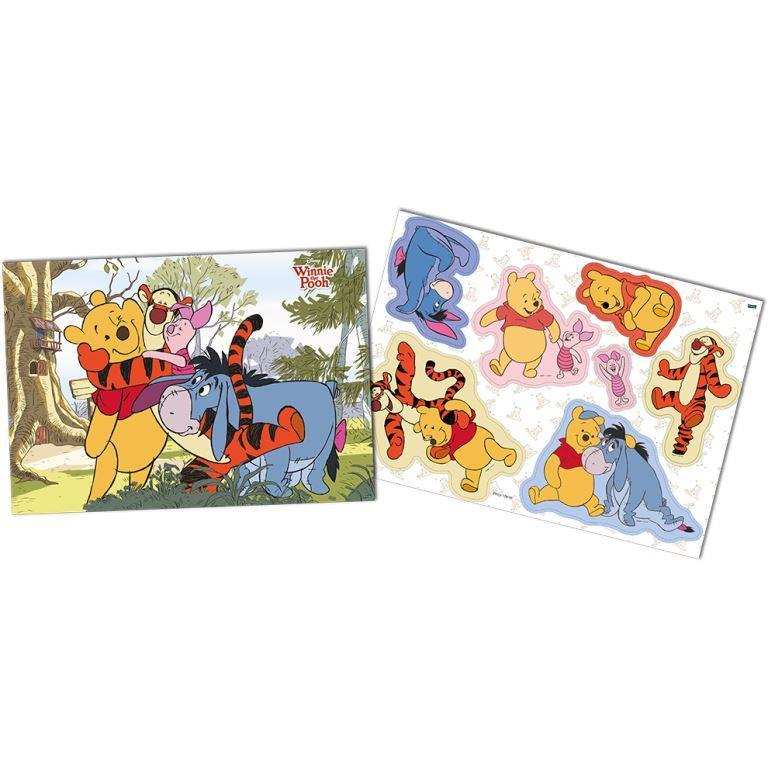 Kit Decorativo 64Cm X 45Cm Winnie The Pooh