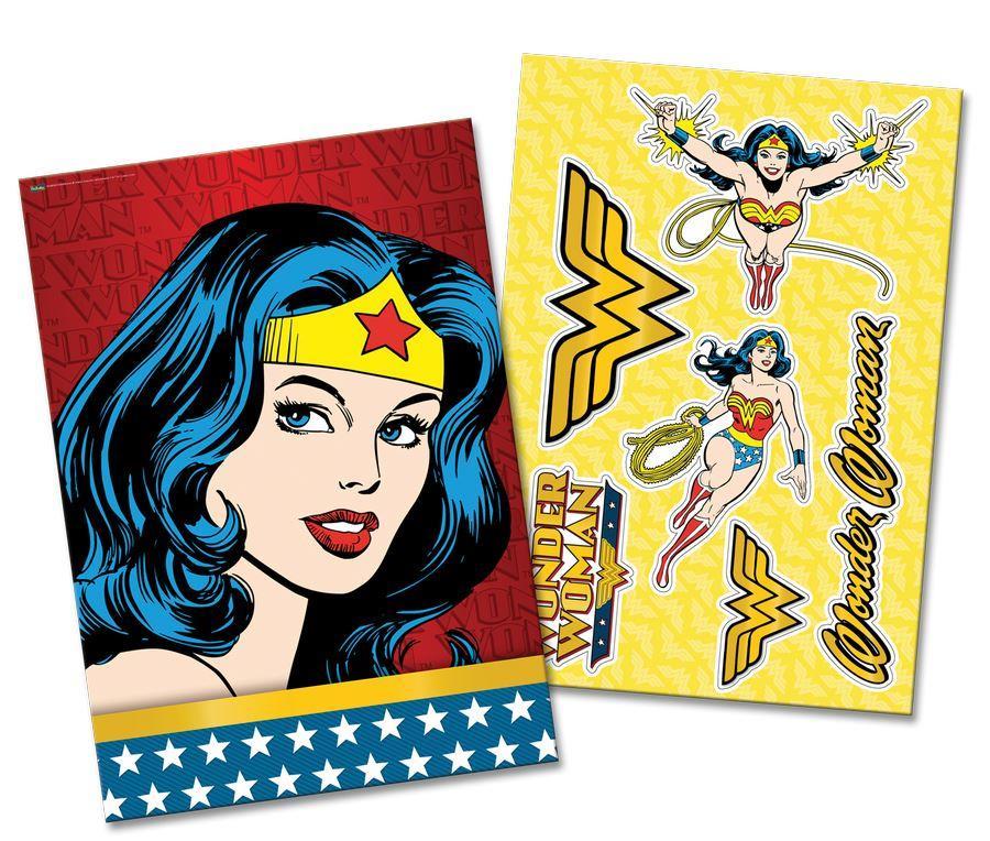 Kit Decorativo Destacáveis  Wonder Woman