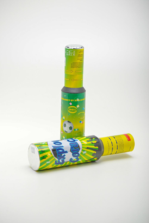 Lança Confete Metalizado Garrafa Brasil