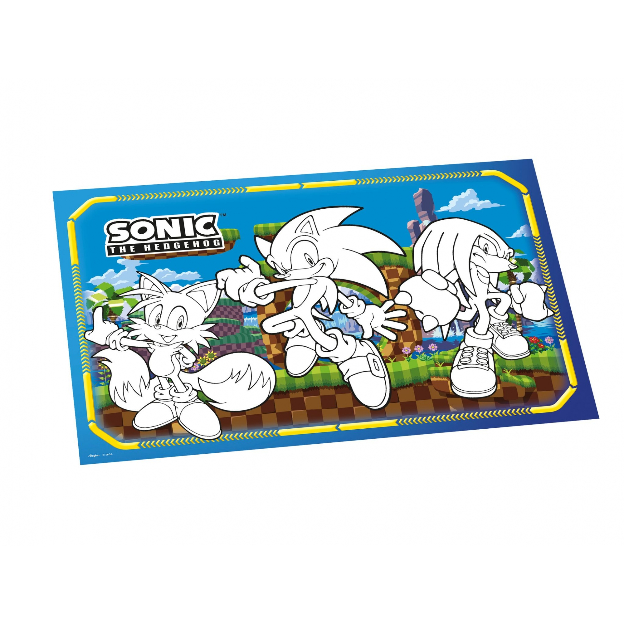 Lembrançinha Para Colorir De Mesa Sonic 08Un.