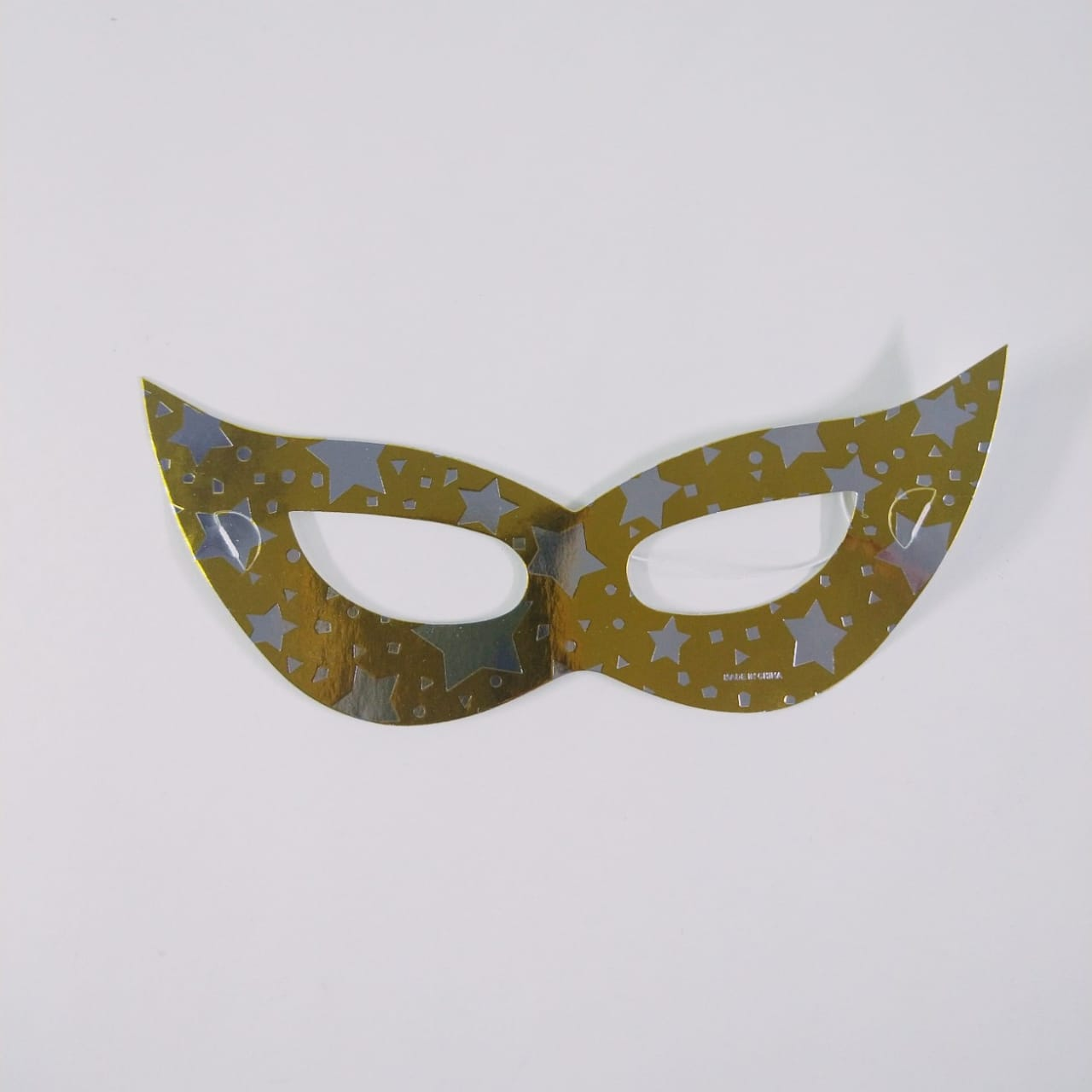 Máscara Tiazinha Papel Metalizada  12 unidades