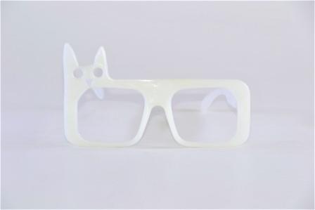 Óculos Pct  10 Neon Fosforecente  Branco  Gato