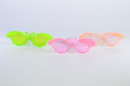 Óculos Pct Com 10 Acrílico Colorido Borboleta