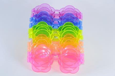 Óculos Pct Com 10 Acrílico Colorido Flor