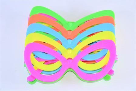 Óculos Pct Com 10 Colorido Neon + Luz Negra Gatinho