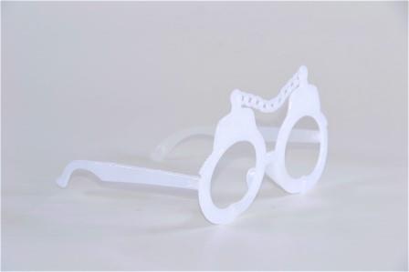 Óculos Pct Com 10 Neon Fosforecente  Branco
