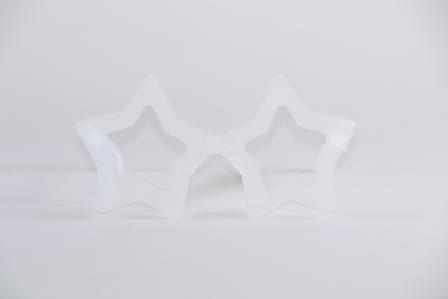 Óculos Pct Com 10 Neon Fosforecente Branco Estrela