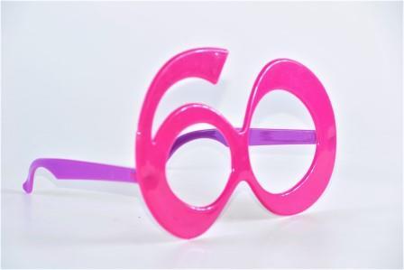Óculos Pct Com 10 Plástico Colorido 60