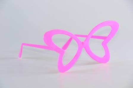 Óculos Pct Com 10 Plástico Colorido Borboleta Gd