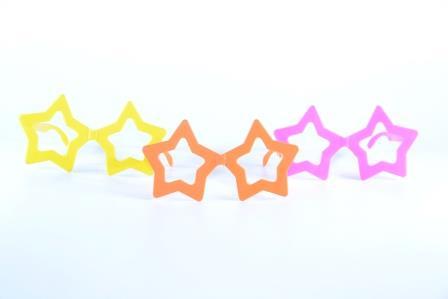 Óculos Pct Com 10 Plástico Colorido Estrela