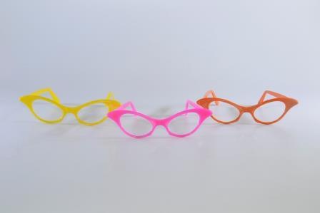 Óculos Pct Com 10 Plástico Colorido Gatinho