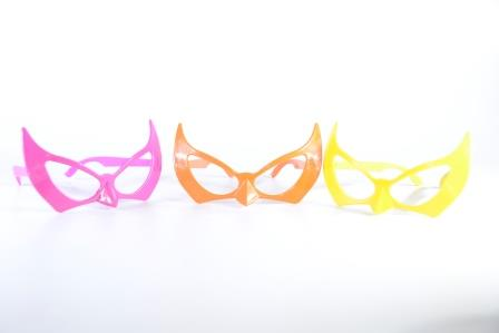 Óculos Pct Com 10 Plástico Colorido Homem Morcego