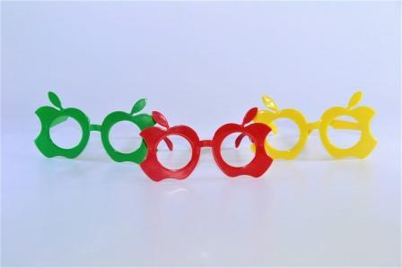 Óculos Pct Com 10 Plástico Colorido Maça