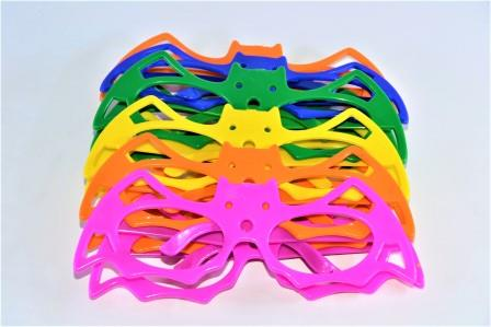 Óculos Pct Com 10 Plástico Colorido Morcego
