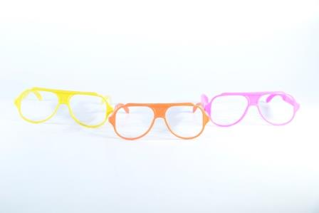 Óculos Pct Com 10 Plástico Colorido Nerd