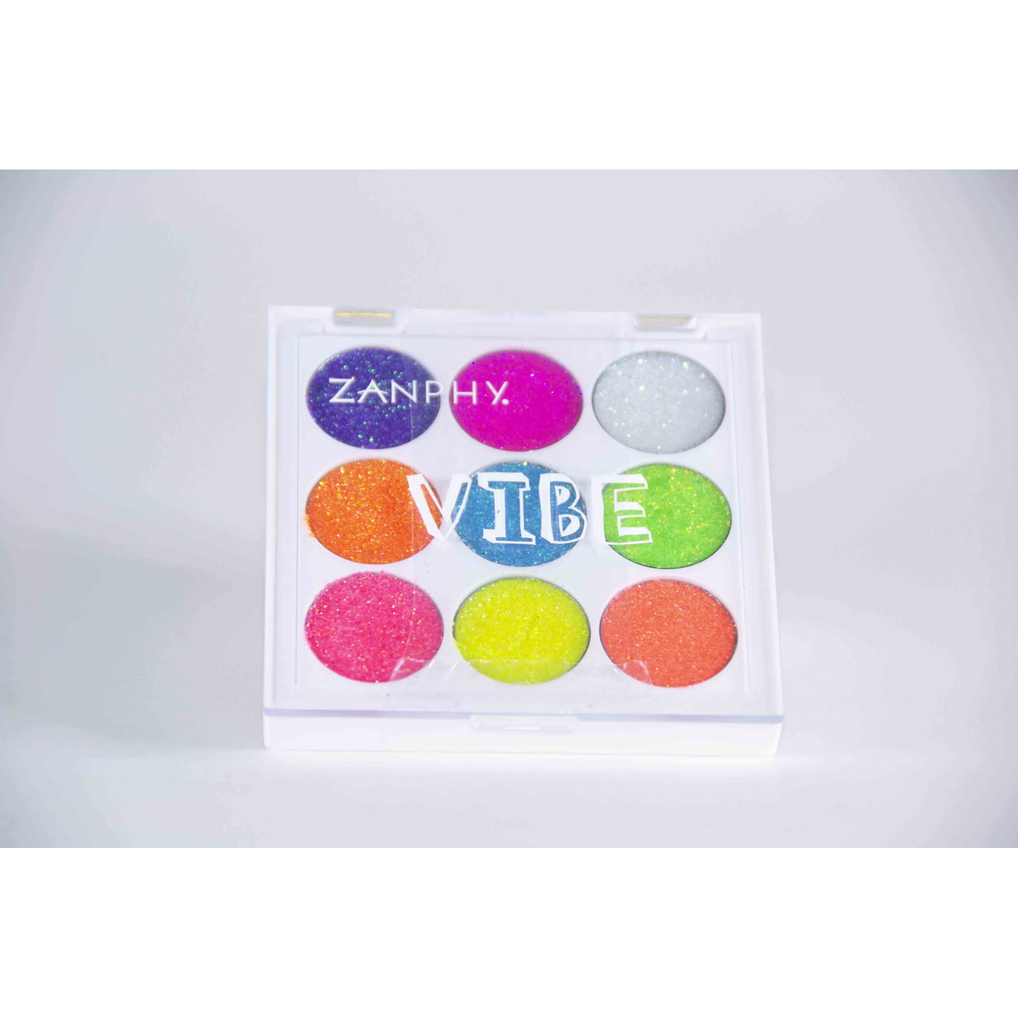 Paleta De Glitter Neon Linha Vibe 9 Cores 01 (1,3G Cada) - Zamphy