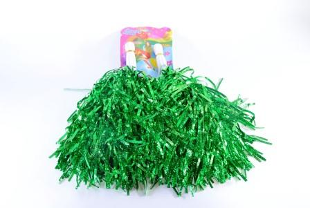 Kit PomPom Torcida Pet Metalizado 02pças